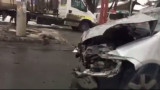 VIDEO // Un nou accident în Capitală