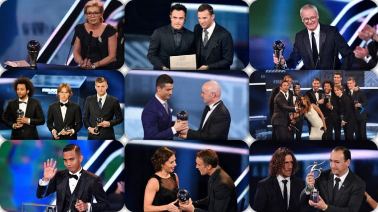 "Fotbal// Gala FIFA - Tabloul Premiilor ""The Best"""
