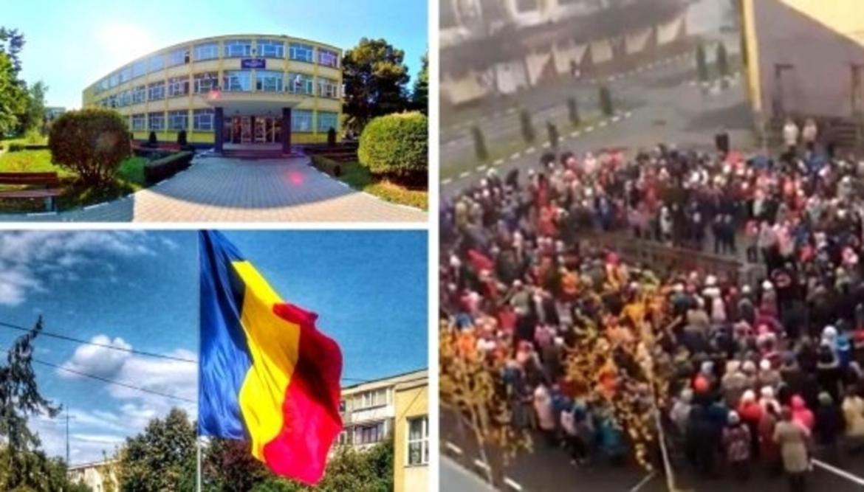 """VIDEO emoționant  / Sute de copii au cântat """"Treceți batalioane române Carpații"""""""