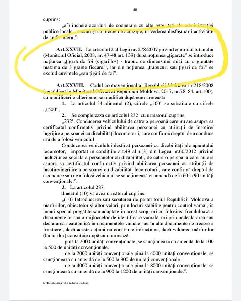 DOC // Interesele ascunse ale lui Eugeniu Nichiforciuc în proiectul  Politicii bugetar-fiscale: Statul va pierde zeci de milioane de lei